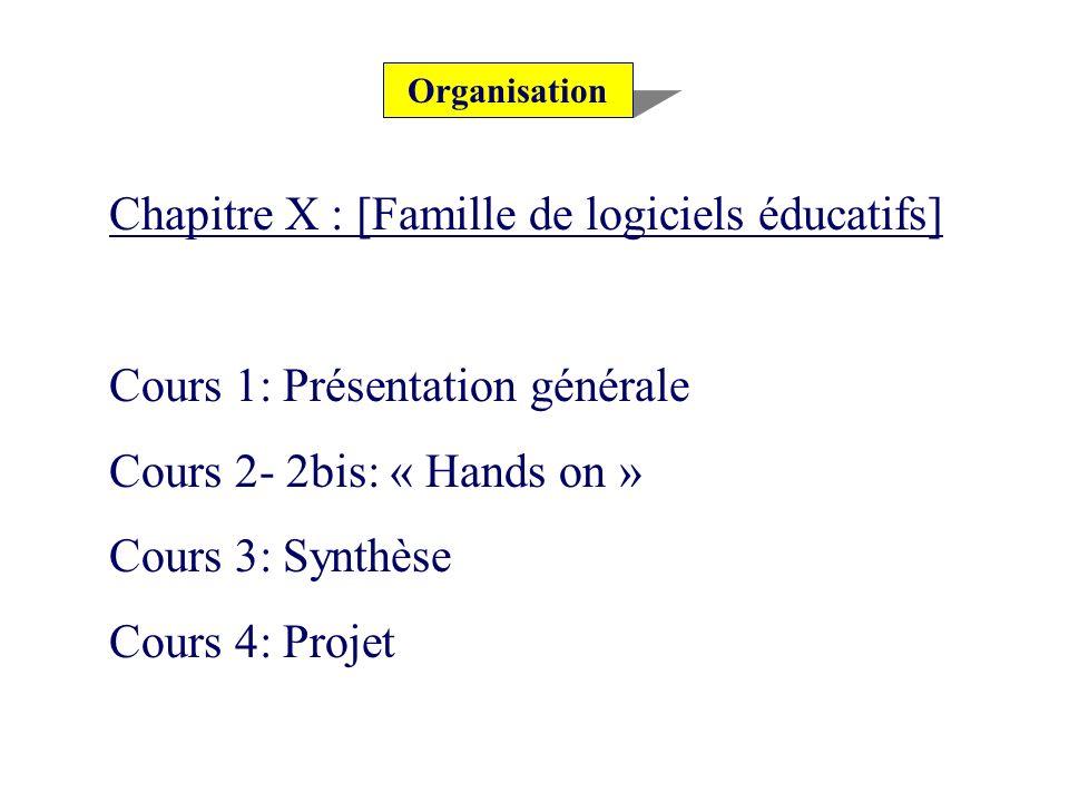 Chapitre X : [Famille de logiciels éducatifs]